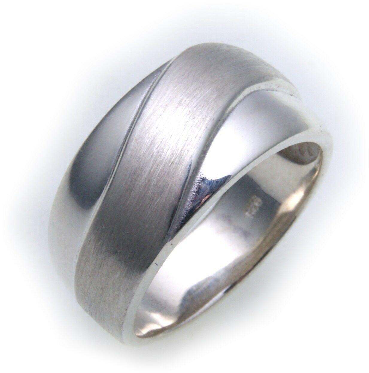 Neu Damen Ring echt Silber 925 poliert teilmatt massive Qualität Sterlingsilber