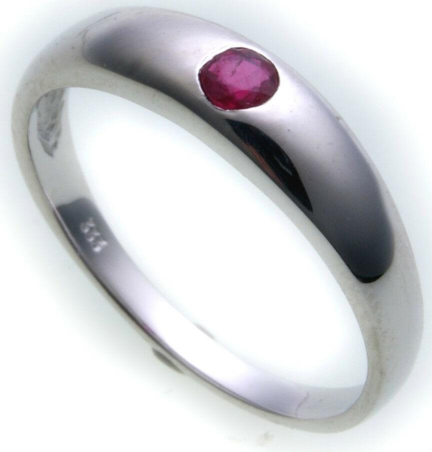 Neu Bestpreis Damen Ring echt Weißgold 585 Rubin 14kt Qualität Gold Rot