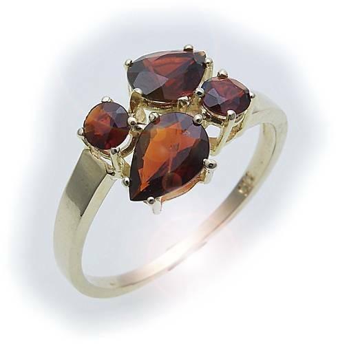Damen Ring m. Granat in Silber 925 Granatring Sterlingsilber Qualität 8288/8GR
