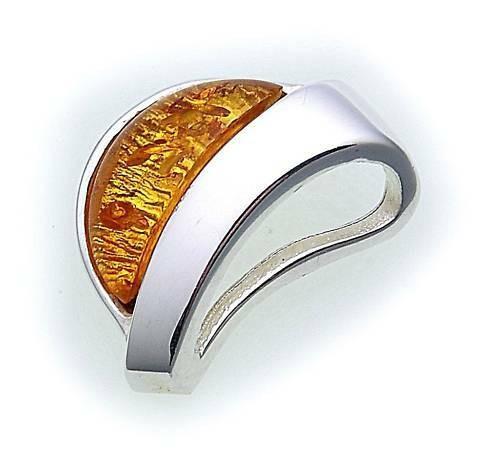 Neu Anhänger echt Bernstein in Silber 925 Sterlingsilber Unisex Top Qualität