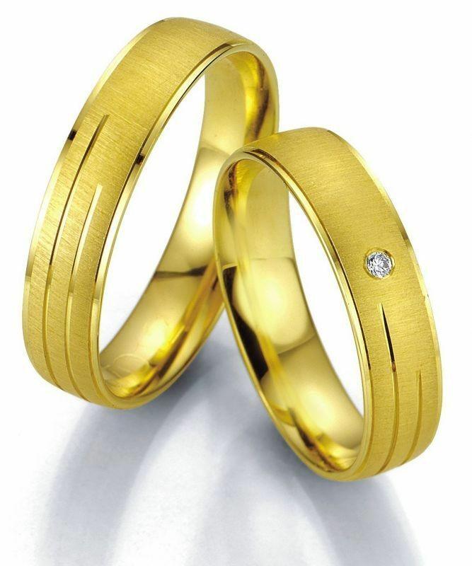 Trauringe Breuning Smartline Collection 7011/7012 in 585 Gold 14 kt