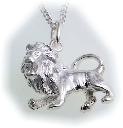 Anhänger Sternzeichen Löwe groß echt Silber 925 Unisex Sterlingsilber