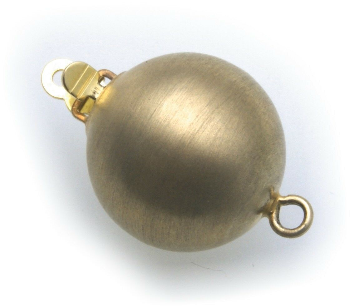 Perlschließe Anhänger echt Gold 333 12 mm Schließe 8kt Schloß Gelbgold