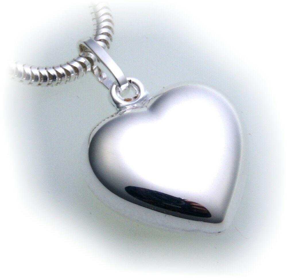 Anhänger Herz echt Silber 925 Hochglanz plastisch Sterlingsilber Unisex