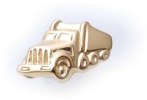 Herren Ohrringe Stecker echt Gold 333 LKW Truck