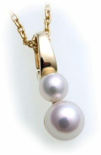Anhänger Zuchtperle echt Gold 585 Perle Gelbgold Damen