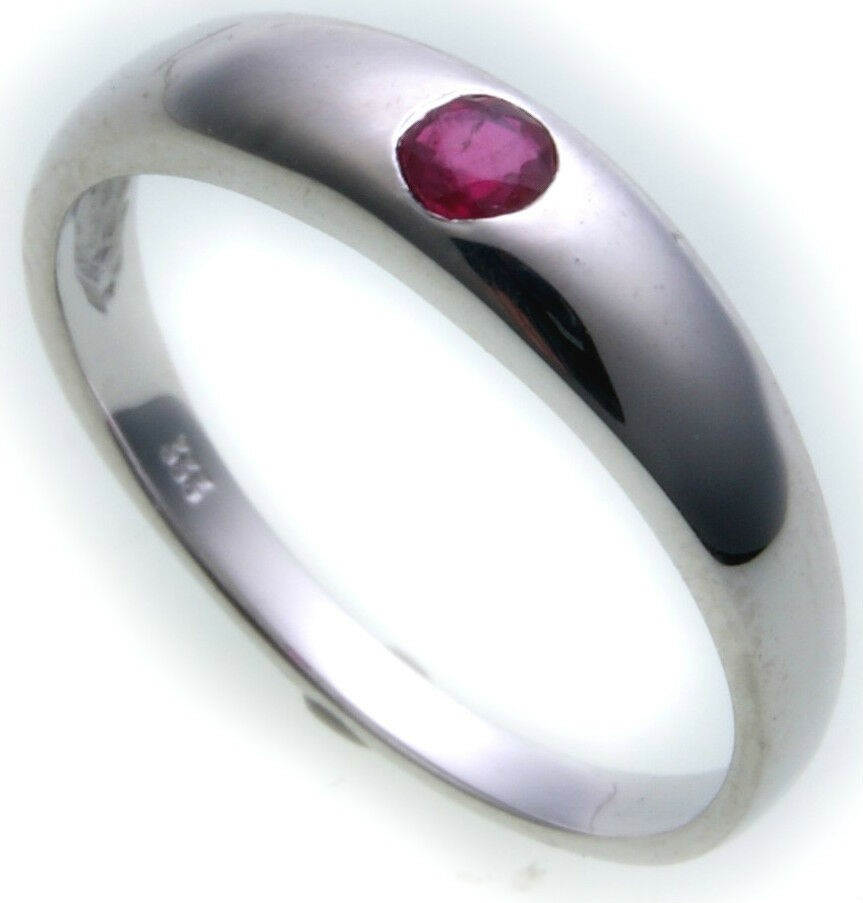 Neu Bestpreis Damen Ring echt Weißgold 750 Rubin 18 karat Qualität Gold Rot