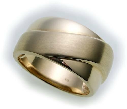 Damen Ring echt Gold 585 poliert teilmatt gute Qualität Gelbgold 14kt Qualität