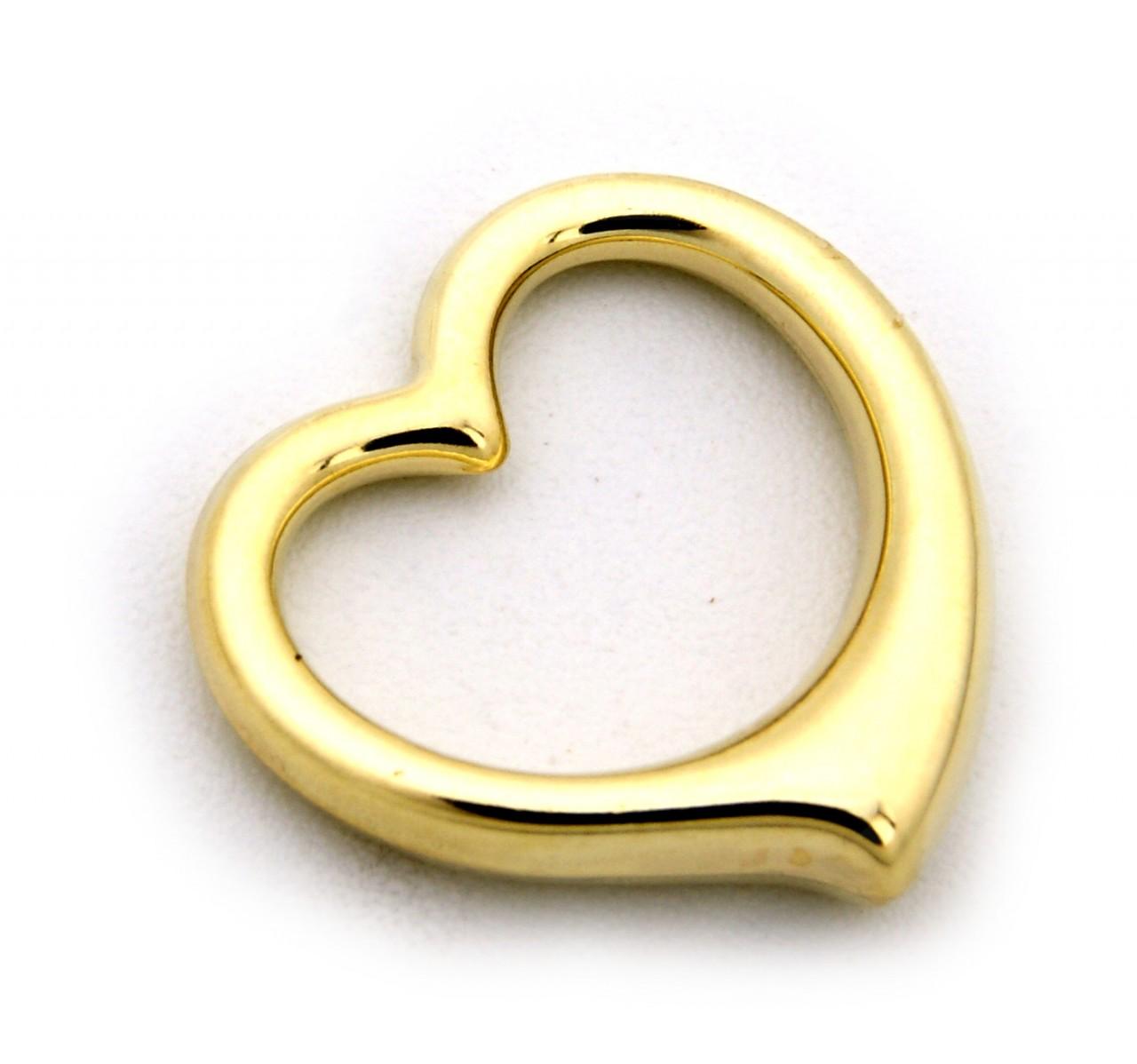 Anhänger Herz 3 D Swinging Heart poliert echt 585 Gold 14 karat Gelbgold Damen