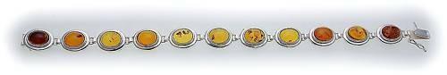 Armband echt Bernstein in Gold 585 Bernsteinarmband Gelbgold Qualität N2992 BE 5