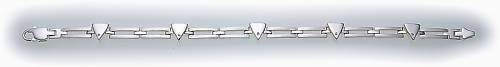 Armband in Silber 925 massiv 19 cm mit Zirkonia Sterlingsilber