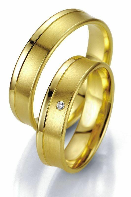 Trauringe Breuning Smartline Collection 7027/7028 in 585 Gold 14 kt