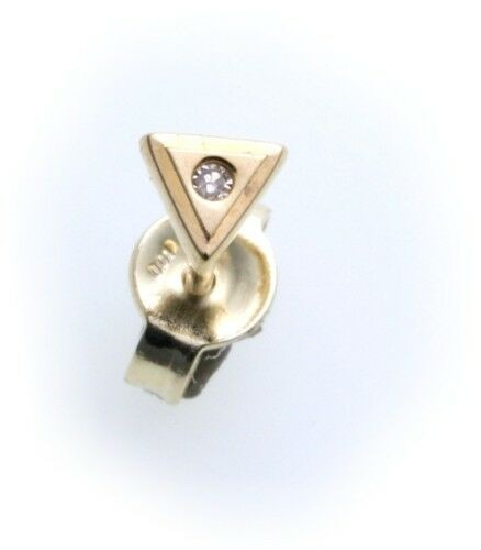 Herren Ohrringe Stecker echt Gold 585 Brillant Diamant 0,01 ct Gelbgold 14 karat